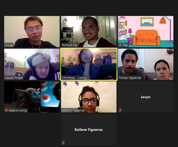Another screenshot that I took of our Zoom Xmas party on December 20, 2020. Grogu made an appearance.