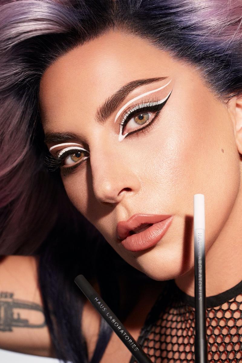 Lady Gaga stars in Haus Laboratories Eye-Dentify Gel Pencil Eyeliner campaign.