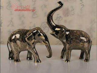 cặp voi bằng đồng thủ công Pakistan