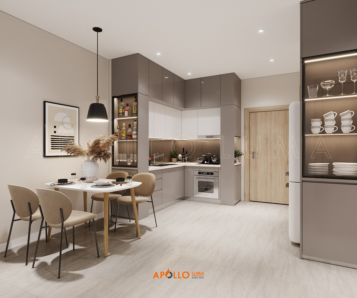 Thiết kế nội thất căn hộ 1PN+1 (43m2) S3.03-02 Vinhomes Ocean Park