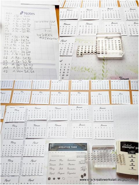 "Jahreskalender stempeln mit ""Kreative Tage"", Anleitung, Tutorial Stampin' Up! www.eris-kreativwerkstatt.blogspot.de"