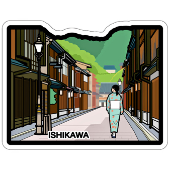 gotochi postcard Higashi Chaya Kanazawa