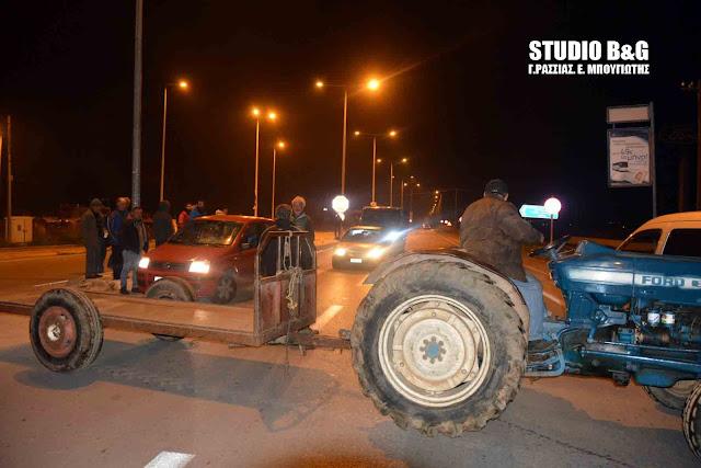 Έκλεισαν δρόμο οι αγρότες της Αργολίδας