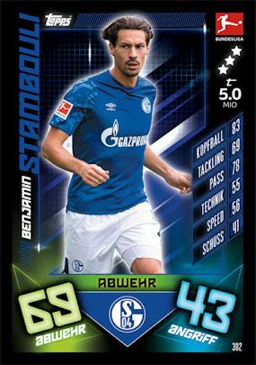 Match Attax 19//20 19 20 équipe Paquet-FC Schalke 04