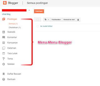 Menu-Menu di Blogger