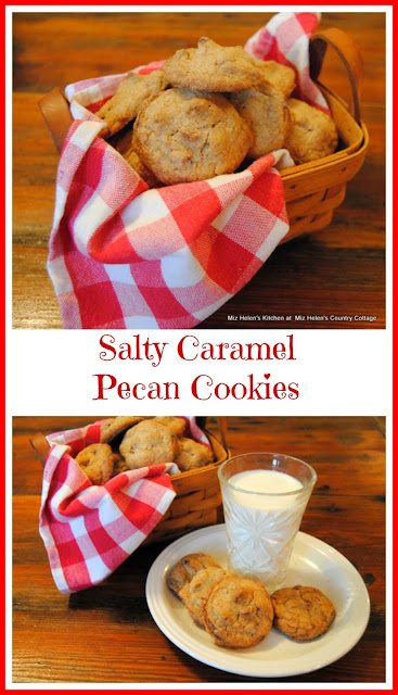 Salty Caramel Pecan Cookies at Miz Helen's Country Cottage