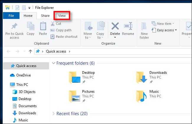 انقر فوق عرض في مستكشف ملفات Windows 10