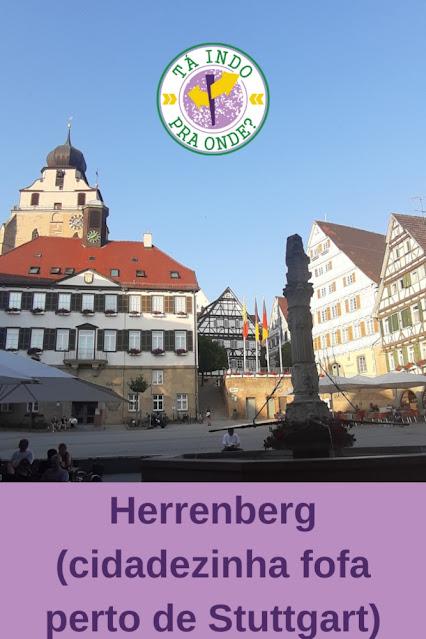 Herrenberg (Alemanha) - onde ver casas enxaimel perto de Stuttgart