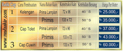 Gosir Batik cap murah di Medan dengan bahan katun yang berkualitas