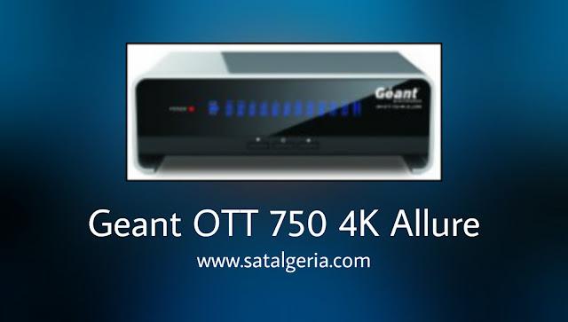 جيون GN-OTT 750 4K ALLURE مميزاته واخر تحديث 2020