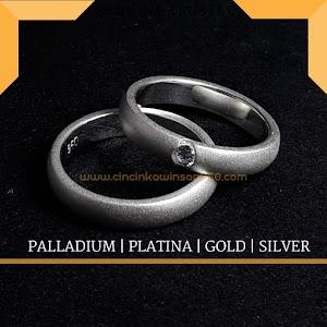 cincin kawin palladium pasangan 611