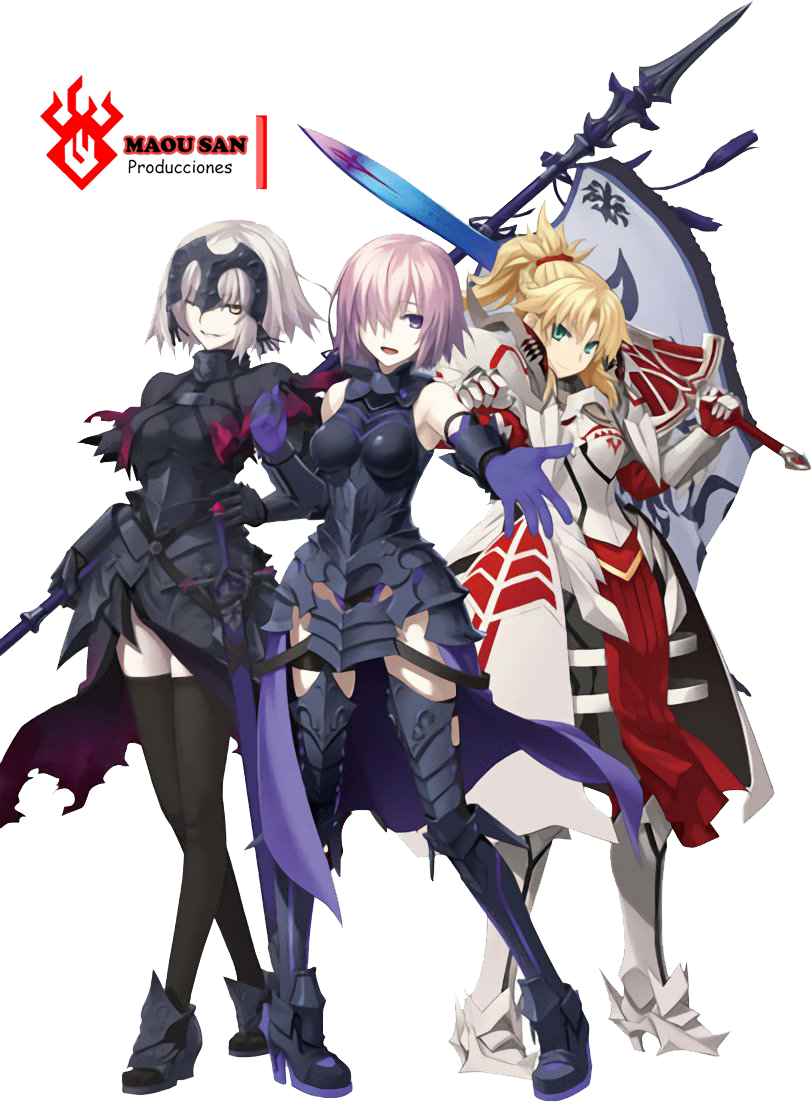 RENDER - FATE GRAND ORDER TRIO DE HEROINAS