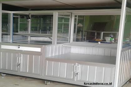 Gerobak Aluminium Fried Chiken Pesanan Bpk Iwan Kirim Ke Babakan Madang Sentul Bogor