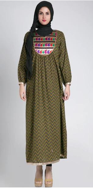 Dress Baju Hamil Batik Muslim Gamis