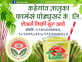 Kadegaon Taluka Farmers Producer Company Limited Taste It Sugarcane Juice
