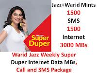 Jazz Packages, Jazz Weekly Package, Jazz weekly internet Package, Jazz Weekly Call Package, Jazz weekly SMS Package, Jazz Super Duper Package, Jazz Super Duper weekly Package