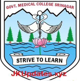 GMC Srinagar Jr. Grade Nurse written test Notification