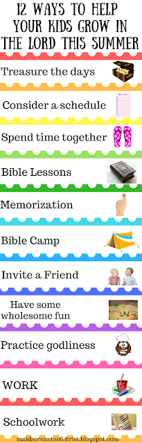 12 Ways to Help Kids Grow in the Lord this Summer |Activities |School is out | Faith | Christian children