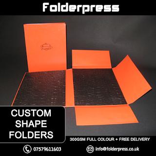 Custom Shaped /Bespoke / Die Cut Folders printing