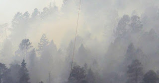 Colorado wildfire doubles in size, hundreds more evacuations underway (Credit: twitter.com) Click to Enlarge.
