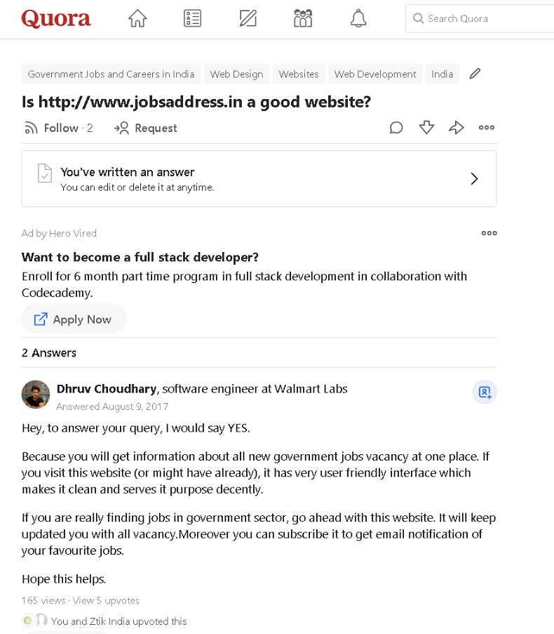 About jobsaddress
