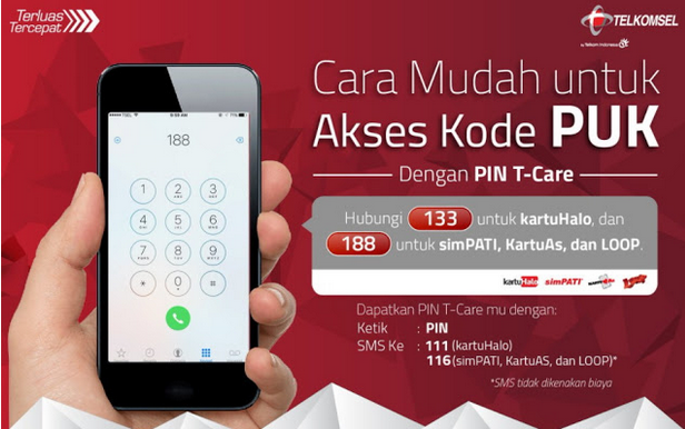 How to access the Telekomsel PUK code for blocked cards