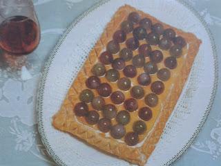 Tarta de uvas al jerez