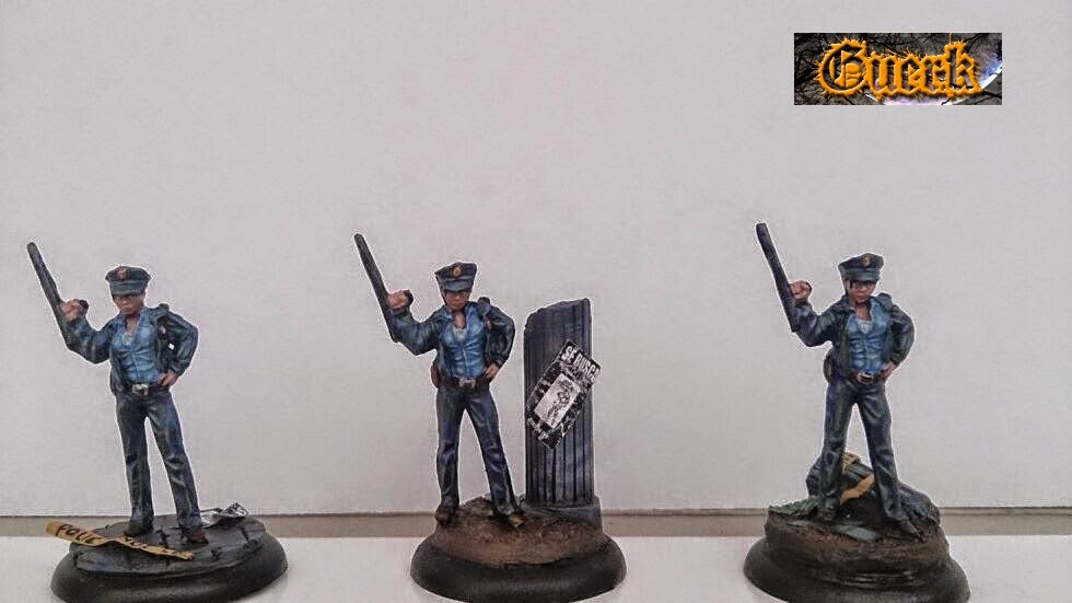 Police woman-mujer policia-knight model-35mm- batman miniature game- batman