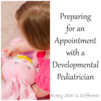 Preparing for an appintment with a developmental pediatrician