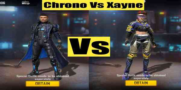 Xayne vs Chrono: Who is the better character in Garena Free Fire?