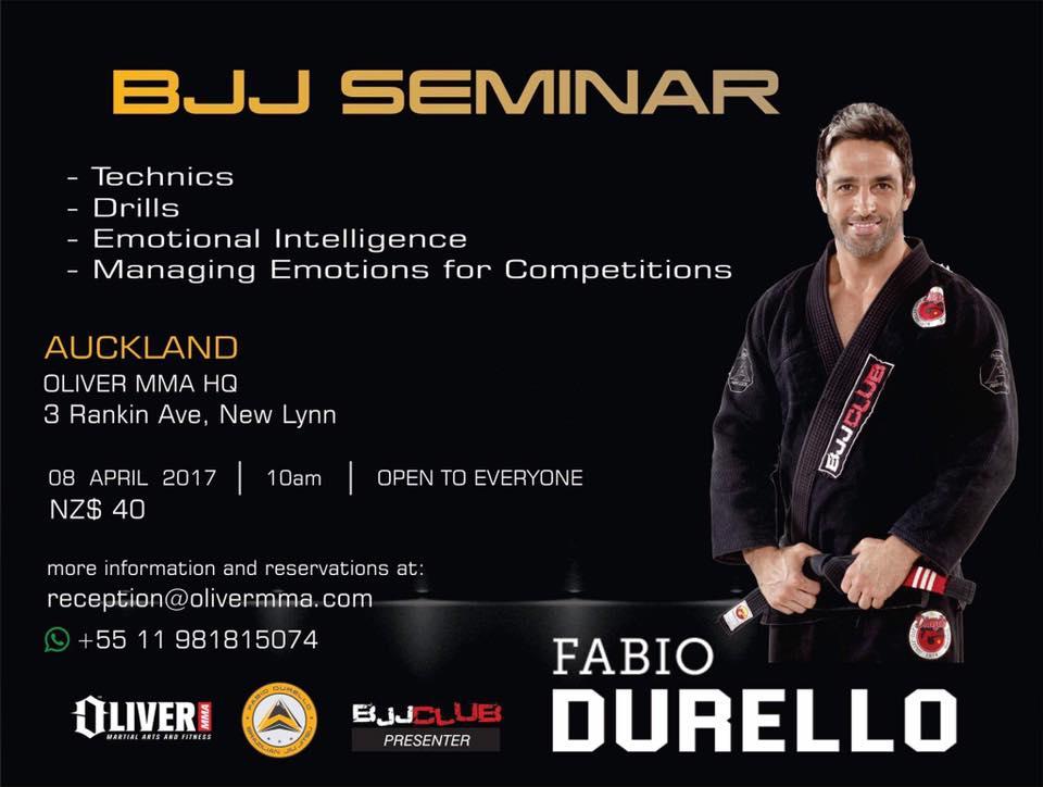 Auckland BJJ: BJJ seminar with Fabio Durello