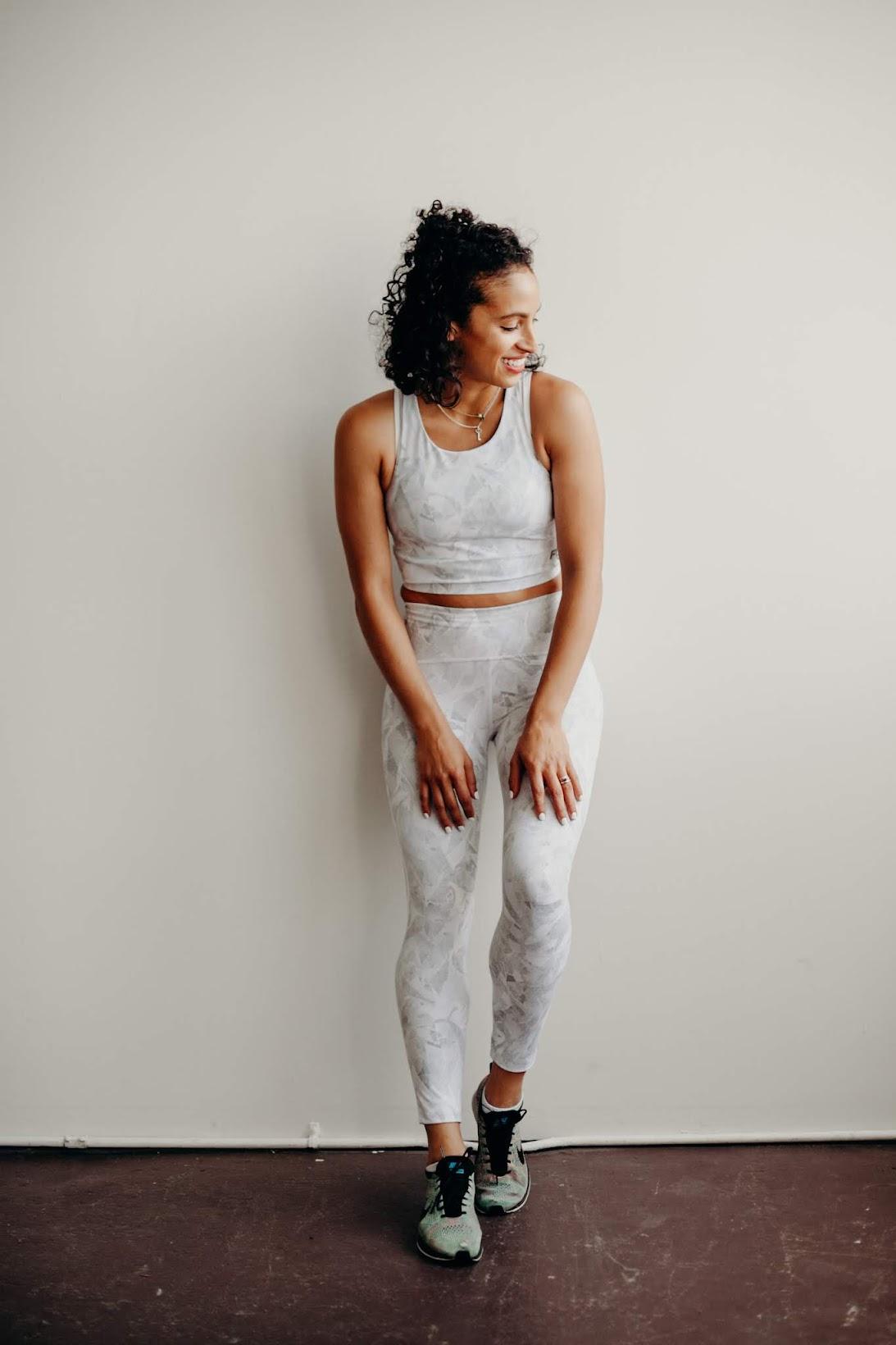 body image, body positivity, flywheel, workout gear, short curly hair