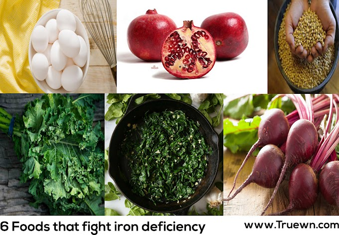 6 Foods that fight iron deficiency