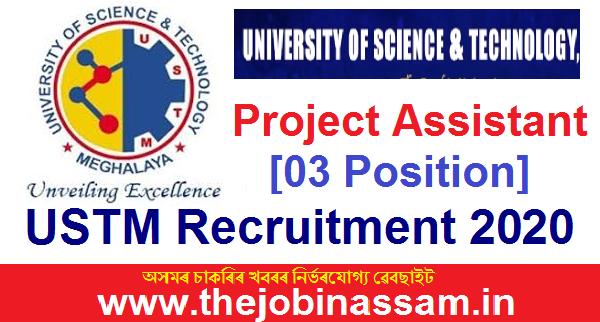 USTM Recruitment 2020: Project Assistant [03 Position]