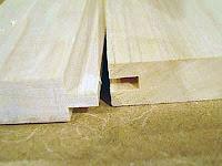 İki tahtanın kiniş ile birleştirilmesi