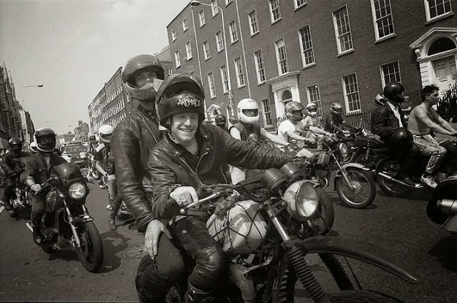 Noel on his Yamaha IT at a charity run in Dublin 2 in the early '90s