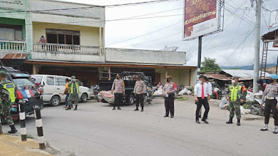 Pemkab Samosir dan TNI-Polri Patroli Gabungan Gakkum Prokes
