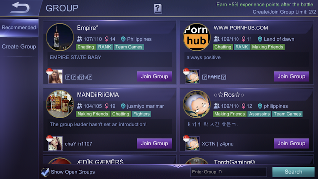 Groups Mobile Legends