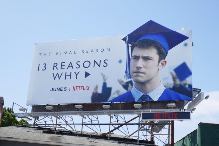 13 Reasons Why season 4 cut-out billboard