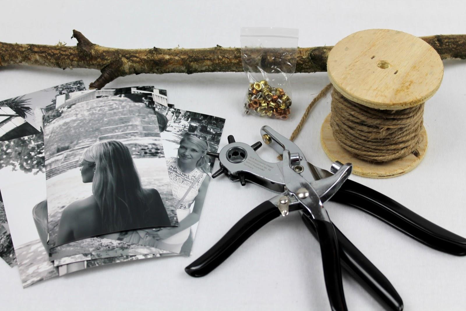 DIY originieller Bilderrahmen ganz einfach selber machen - Fotos an einem Ast