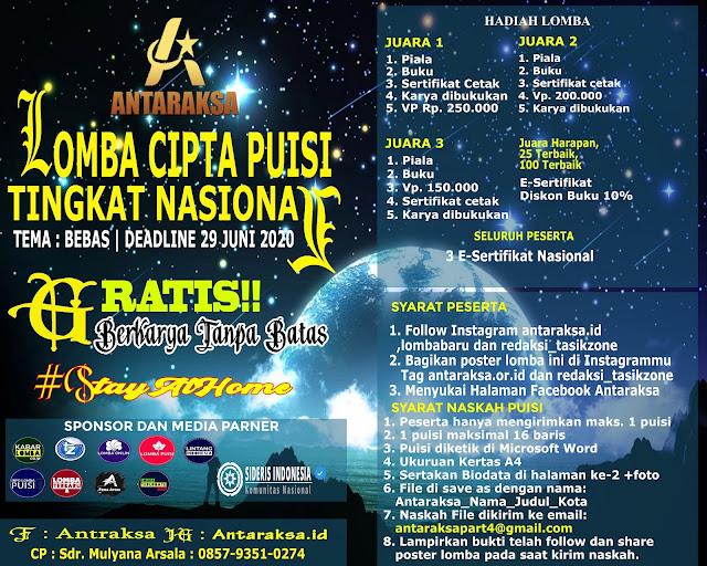 LOMBA CIPTA PUISI TINGKAT NASIONAL ANTARAKSA INDONESIA PART 4