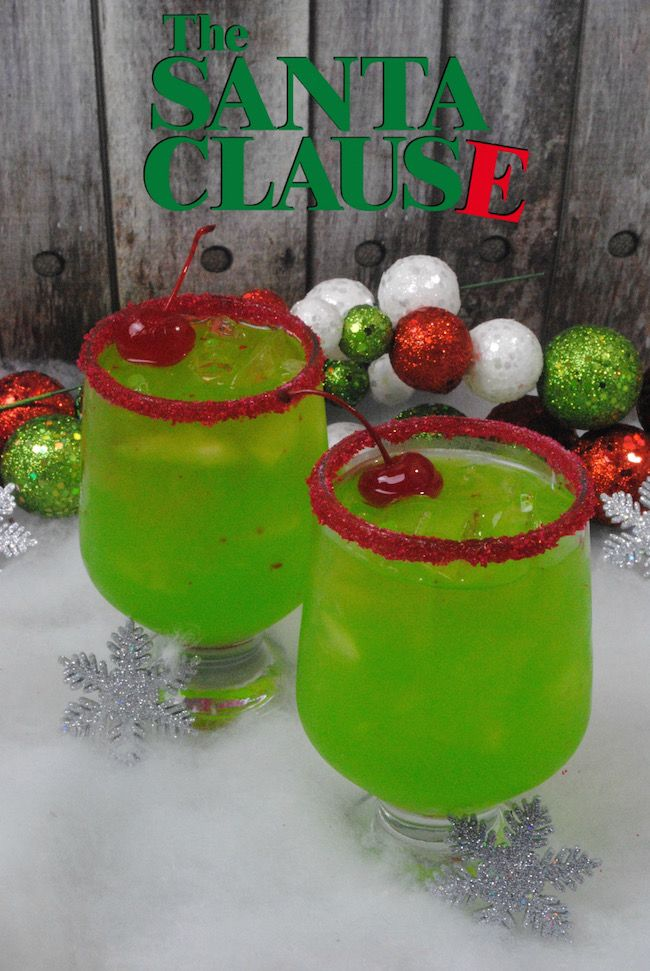 The Santa Clause Cocktail Recipe #drink #cocktail #smoothie #sangria #green