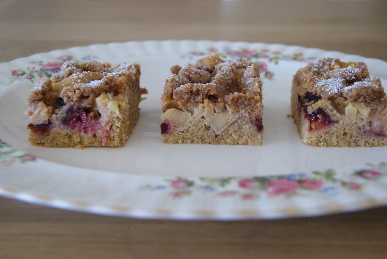 Biscuit And Buttercream Apfel Zwetschgenkuchen Mit Zimtstreuseln