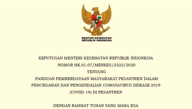 Panduan Menteri Kesehatan Untuk Pencegahan Covid-19 Di Pesantren