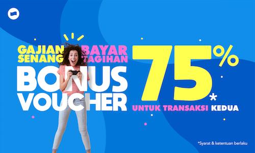 #Dana - #Promo Gajian & Bayar Tagihan Bonus Voucher 75% (s.d 07 Maret 2019)