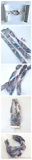 Tutorial Liberty Fabric and bead bracelet