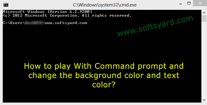 How to change the background color and text color in command prompt? | SoftsYard - Get ...