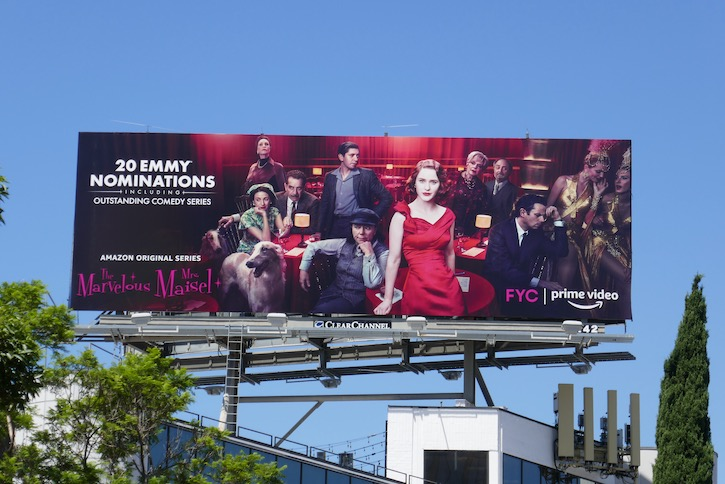 Mrs Maisel season 3 Emmy nominee billboard