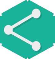 share hexagon icon