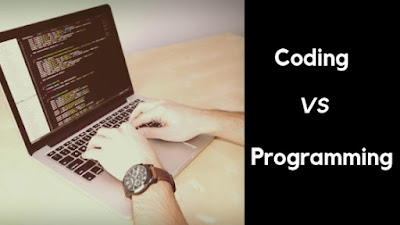 Difference between coding and programming.